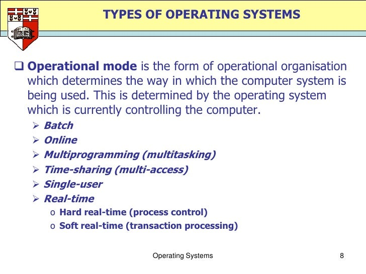 classification of operating system These components reflect the services made available by the os  multiple  cpu's, no shared memory (how is a hypercube classified.