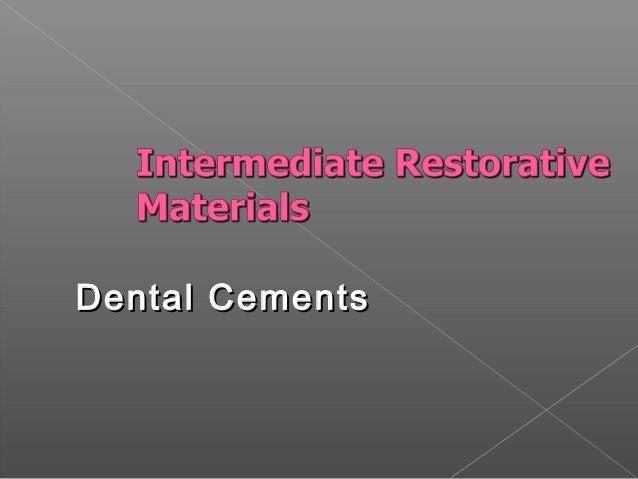 Dental Cements