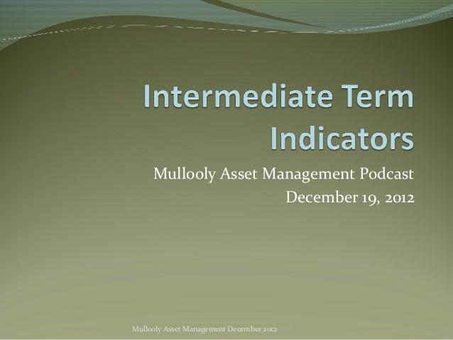 Mullooly Asset Management Podcast                      December 19, 2012Mullooly Asset Management December 2012