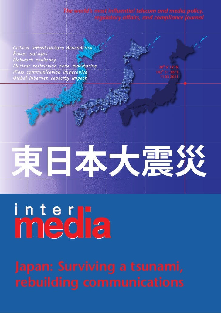 Rebuilding communications in the japanese tsunami