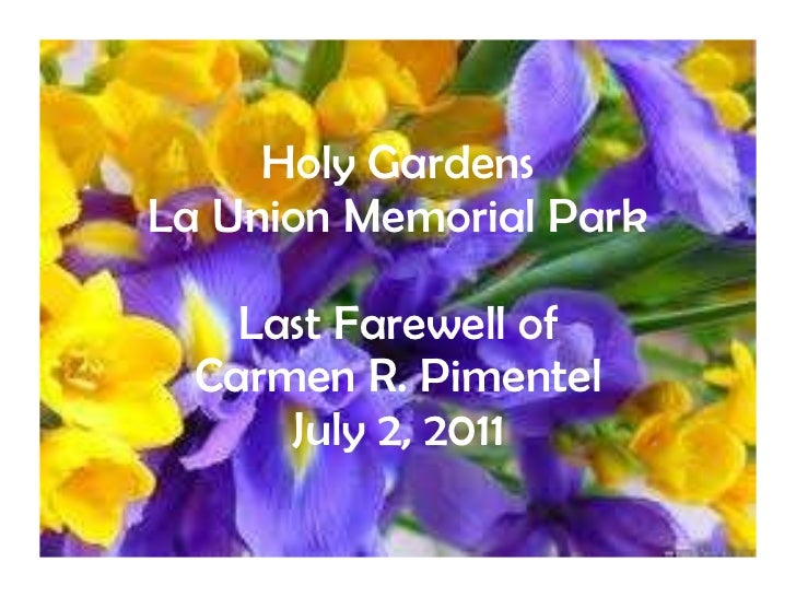 Interment of carmen pimentel