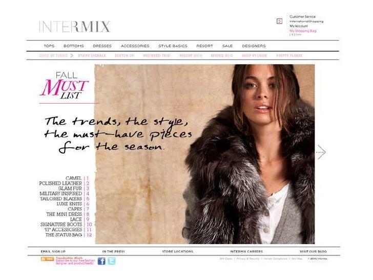 Intermix Fall Must List 2010