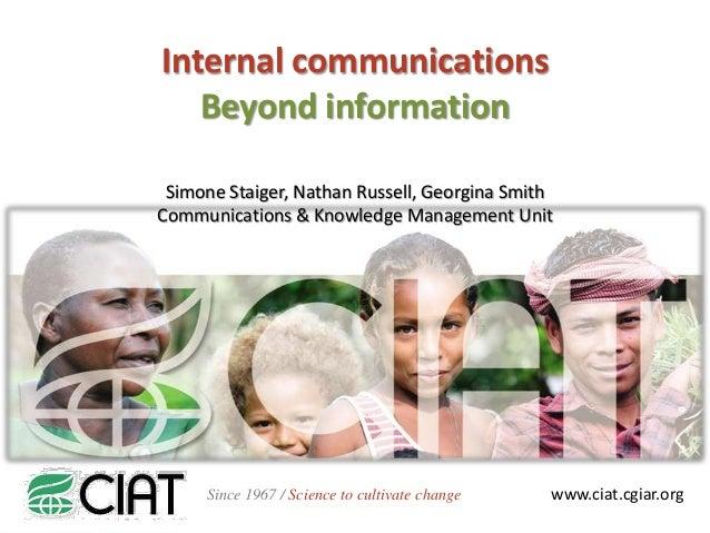 Internal communications presentation simone