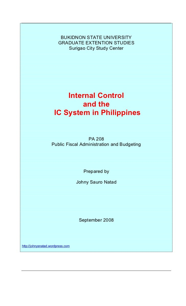 Internal Control And Ic System In Philippines.Doc
