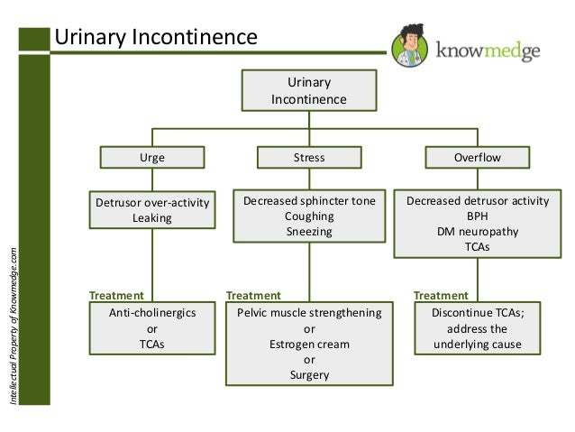 Urinary Incontinence Urinary Incontinence  Stress  Overflow  Detrusor over-activity Leaking Intellectual Property of Knowm...
