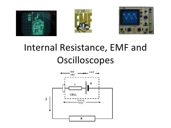 Internal Resistance, EMF and Oscilloscopes