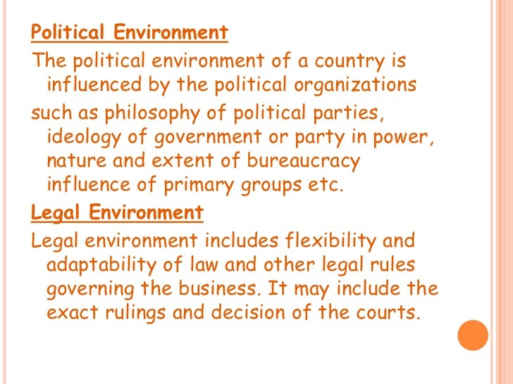 international marketing the political environment The international environment  political considerations affect international business daily as governments enact tariffs in regards to marketing.