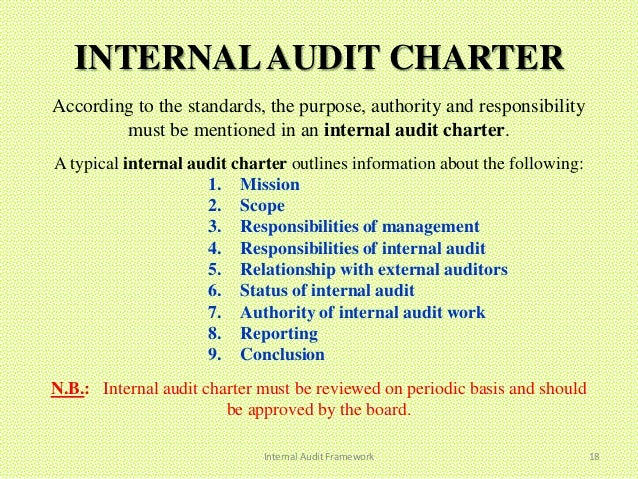 internal audit example