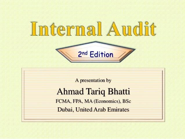 A presentation by Ahmad Tariq Bhatti FCMA, FPA, MA (Economics), BSc Dubai, United Arab Emirates 2nd Edition