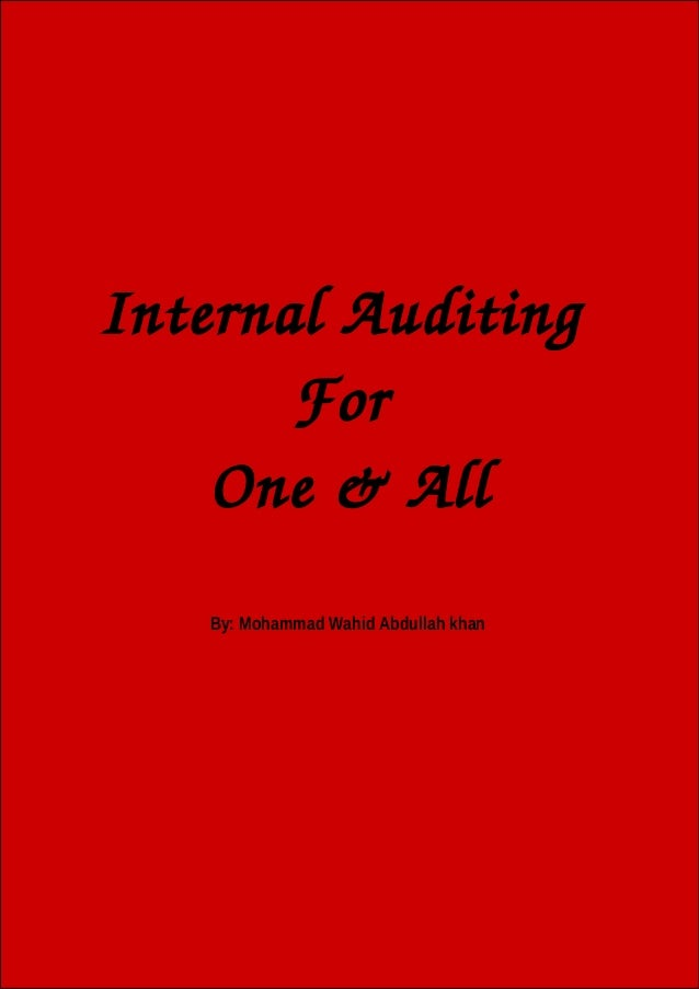 """Internal auditing for """"one & all"""""""