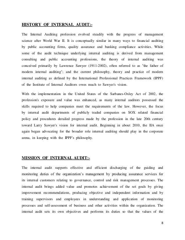 bank internal auditor cover letter slideshare