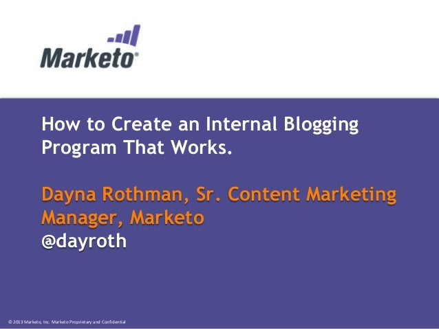 How to Create an Internal Blogging Program that Works
