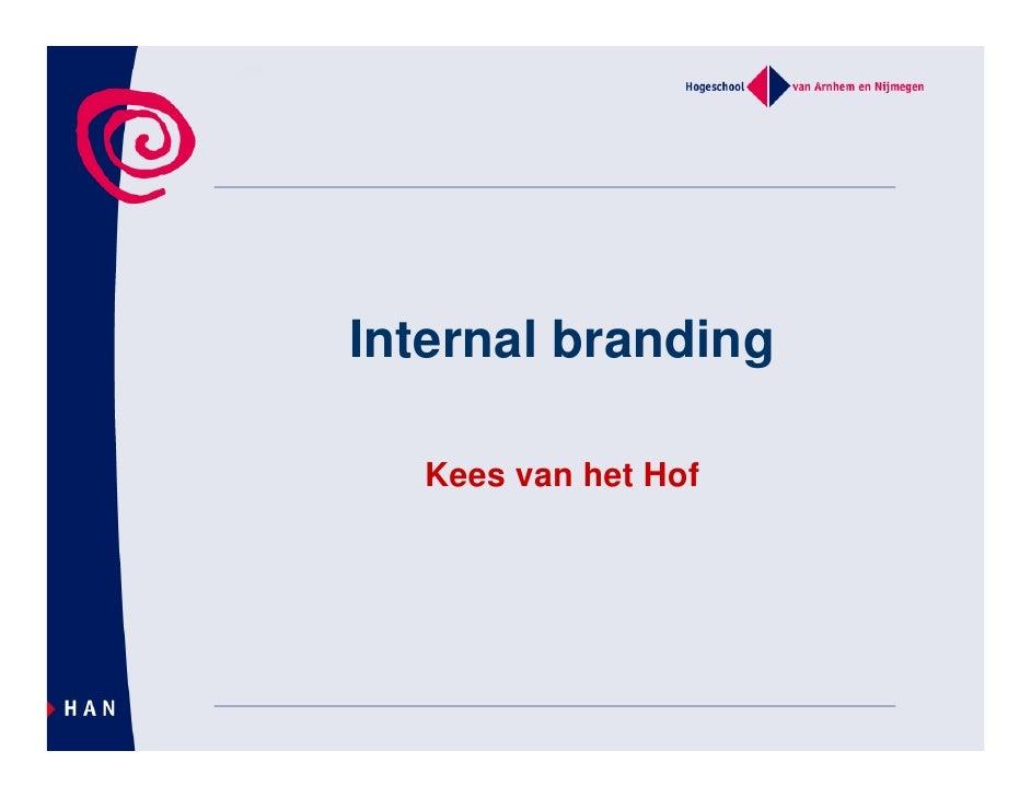 Internal Branding En Nieuwe Media