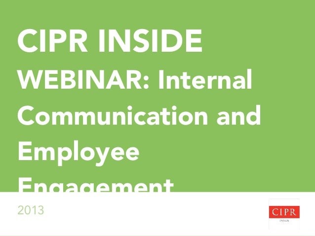 Internal Communication and Employee Engagement: Informed Employee Voice