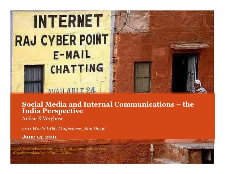 Internal Communications and Social Media - the India Perspective