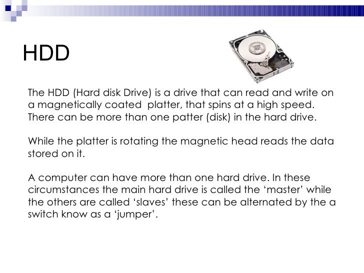 hard disk parts and function pdf