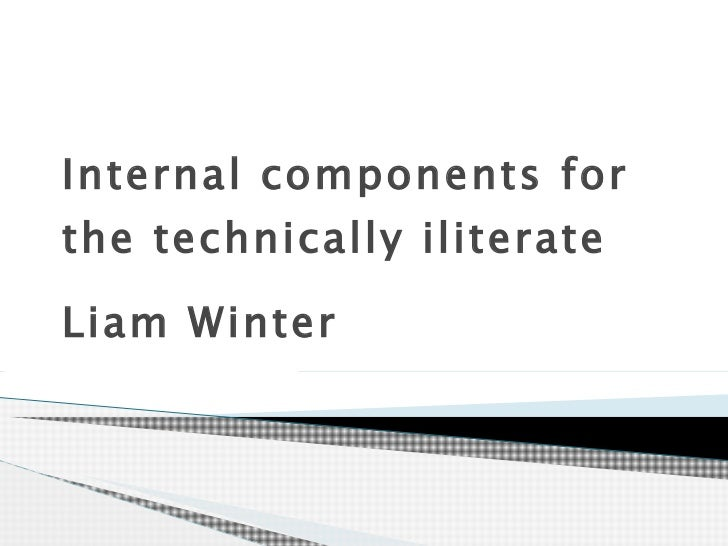 Internal components for the technically iliterate  Liam Winter