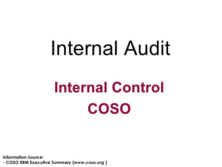 Internal Control COSO