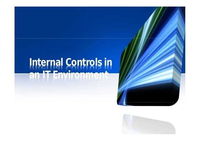 Internal controls in an IT environment