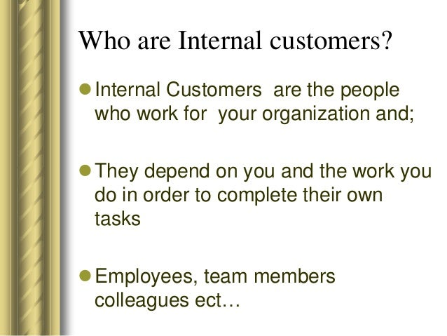 Key requirements for outstanding internal customer service