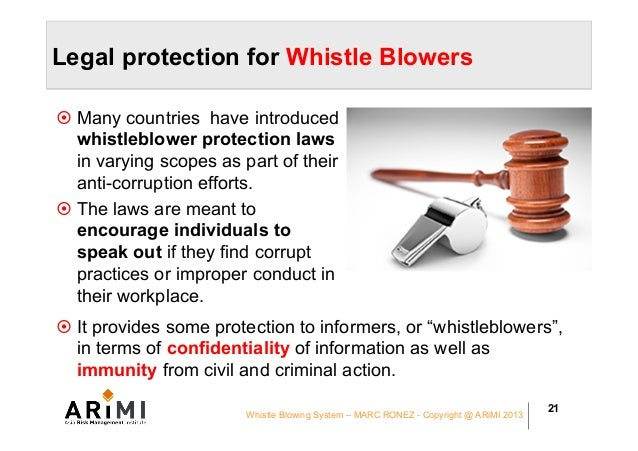 whistleblowers and their protection The whistleblower protection enhancement oig employees who have a need to know in connection with their official also protect whistleblowers from.