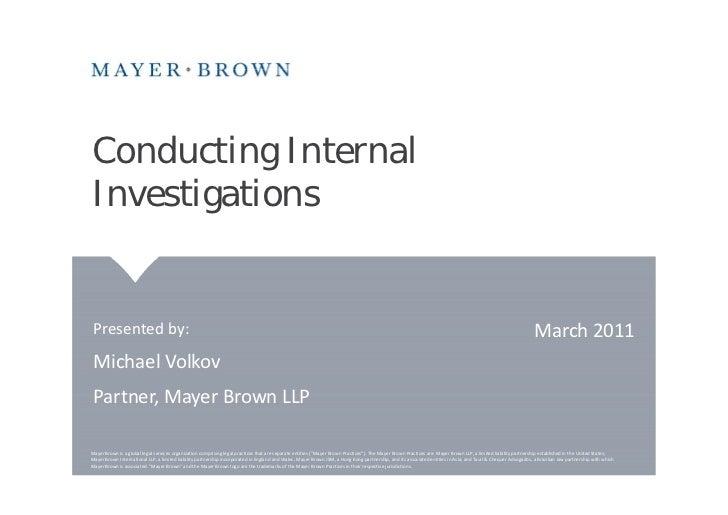 Internal Investigation 20110315 1