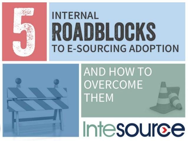 Internal roadblocks to sourcing transformation