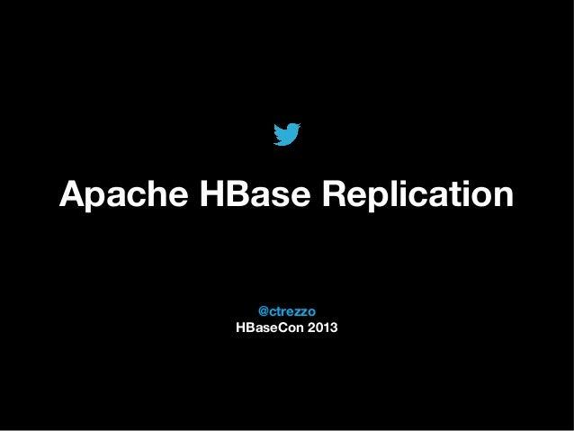 @TwitterAds   Confidential @ctrezzo HBaseCon 2013 Apache HBase Replication