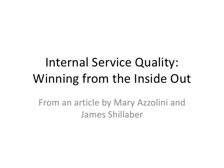 Internal Service Management