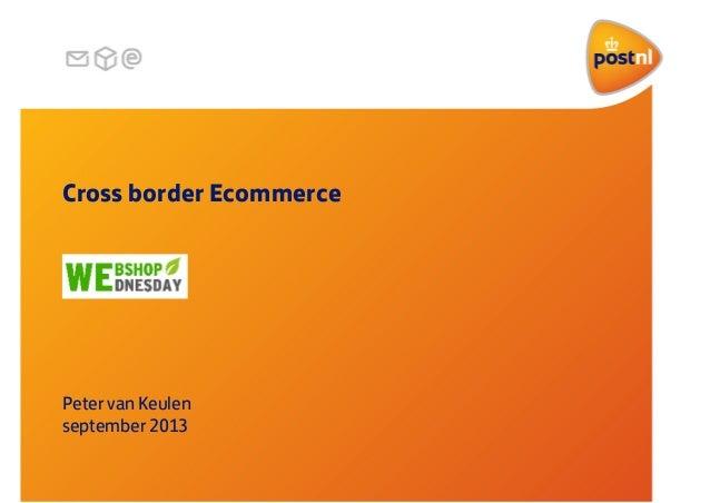 Webshop Wednesday #8: Internationaal zaken doen, Peter van Keulen, Post NL