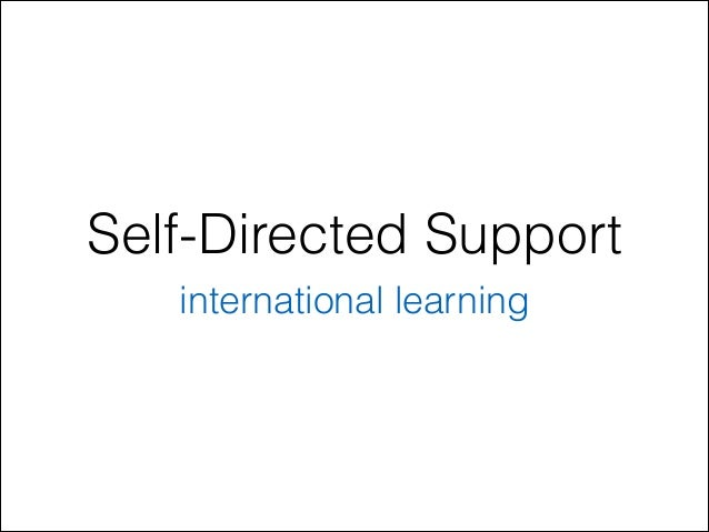 International learning on Self-Directed Support