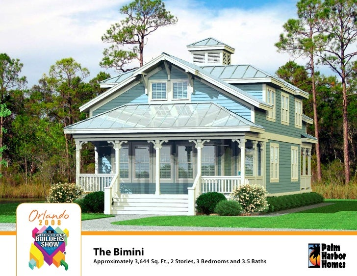 The Bimini Approximately 3,644 Sq. Ft., 2 Stories, 3 Bedrooms and 3.5 Baths