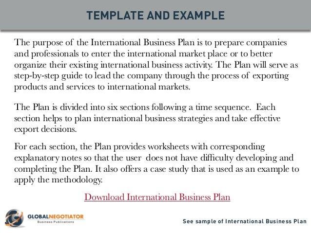 International business plan deca
