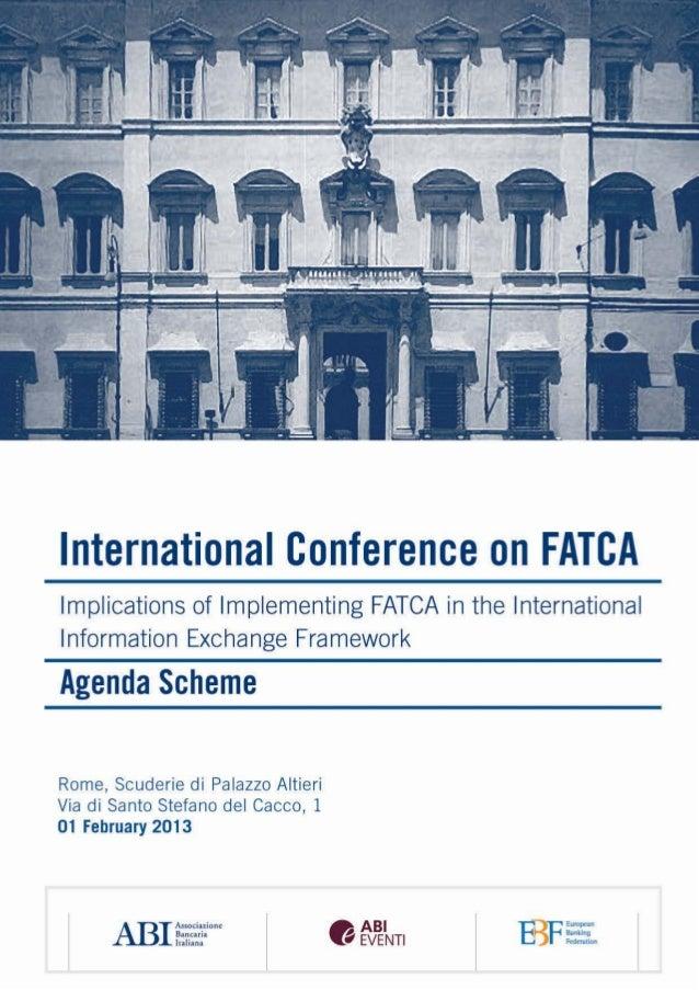 AgendaScheme International Conference on FATCA