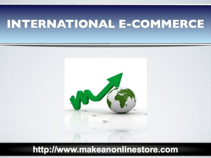 International E-commerce