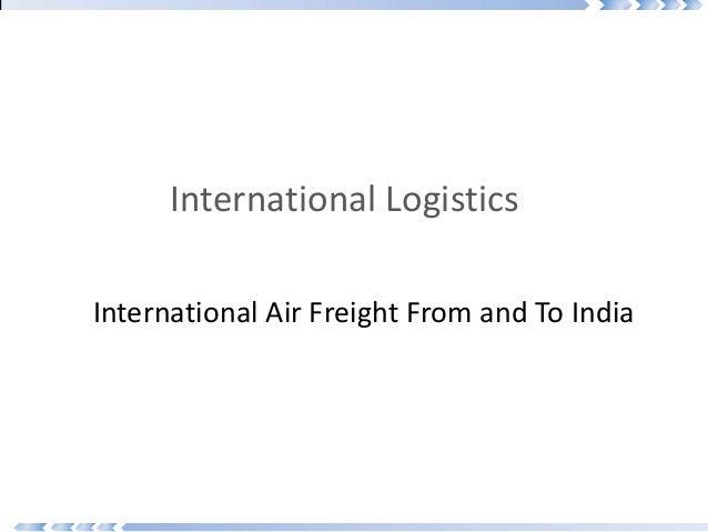 International air freight final copy