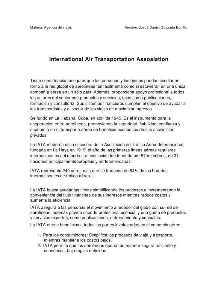 International air transportation assosiation