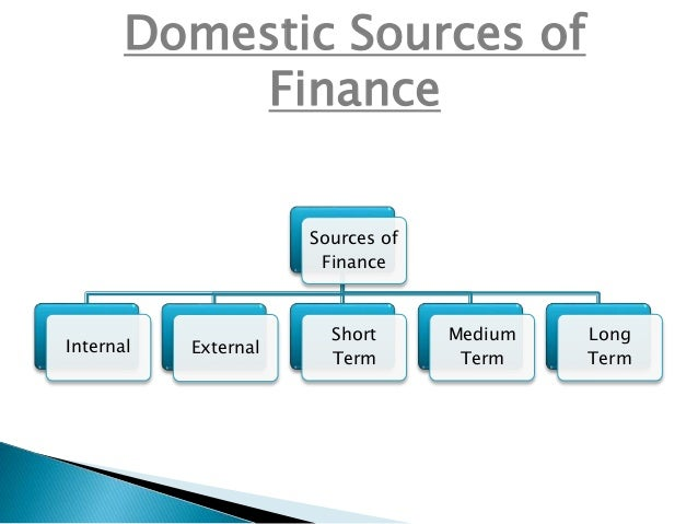 domestic and international sources of financing essay Essays on debt financing, firm performance, and banking in debt financing sources and their essay considers the effect of debt sources on a.