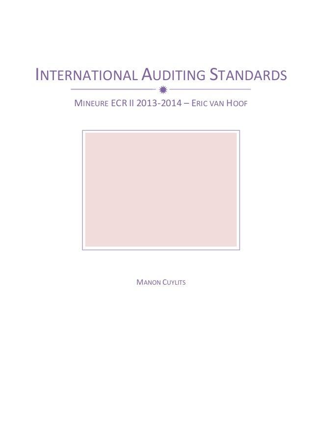 international standards on auditing pdf 2014