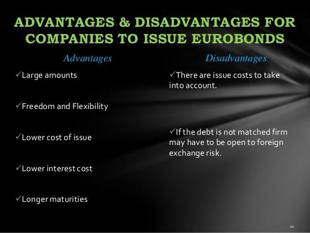 advantages and disadvantages of bonds