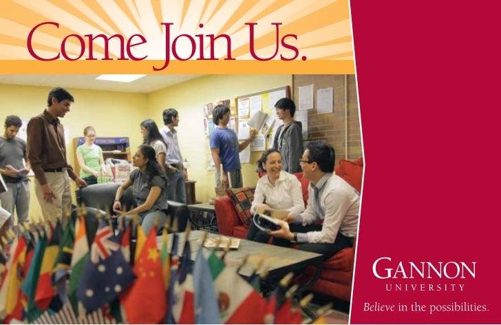 Gannon University International brochure - Intelligent Partners
