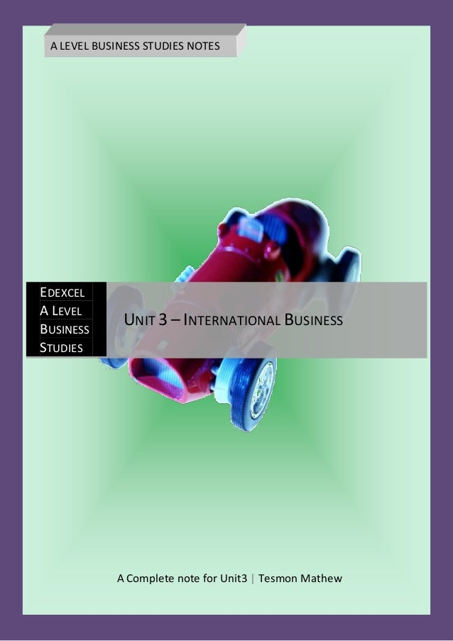 A level business studies coursework help