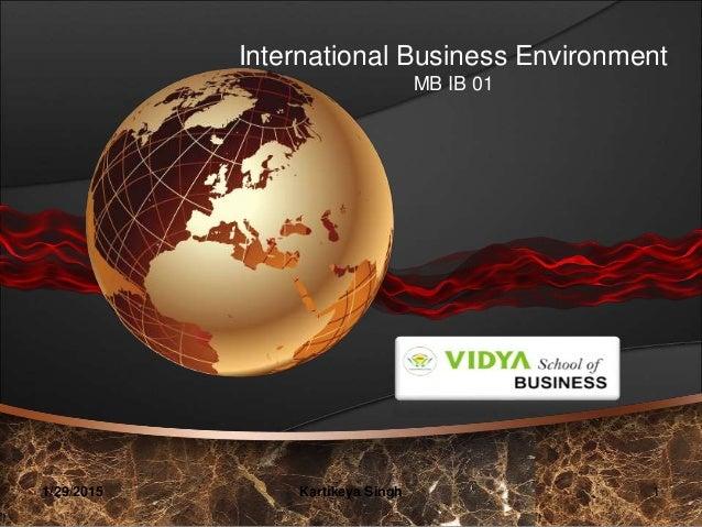 International Business Environment MB IB 01 1/29/2015 1Kartikeya Singh