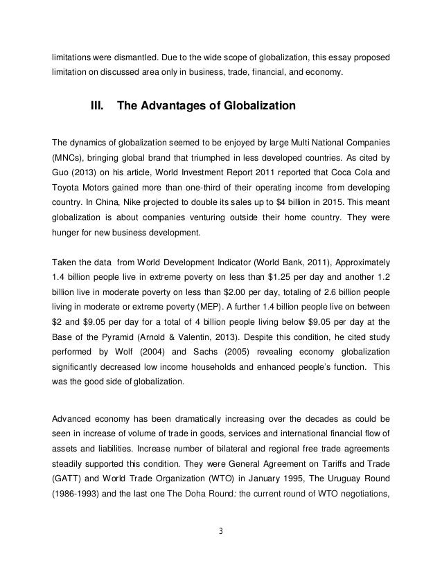 essay economics globalization Advertisements: in this essay we will discuss about globalization and business after reading this essay you will learn about: 1 introduction to globalization and.
