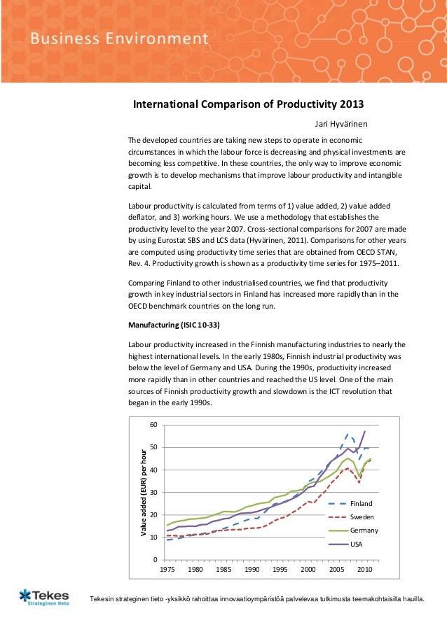 International comparison of_productivity_jari_hyvärinen_pdf
