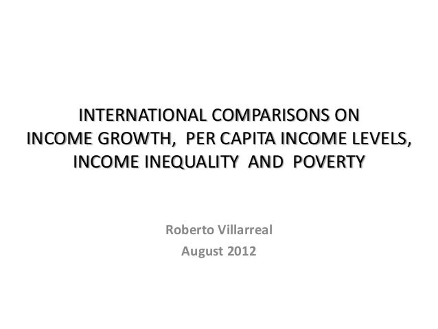 International comparisons on per capita income, growth, inequality and poverty