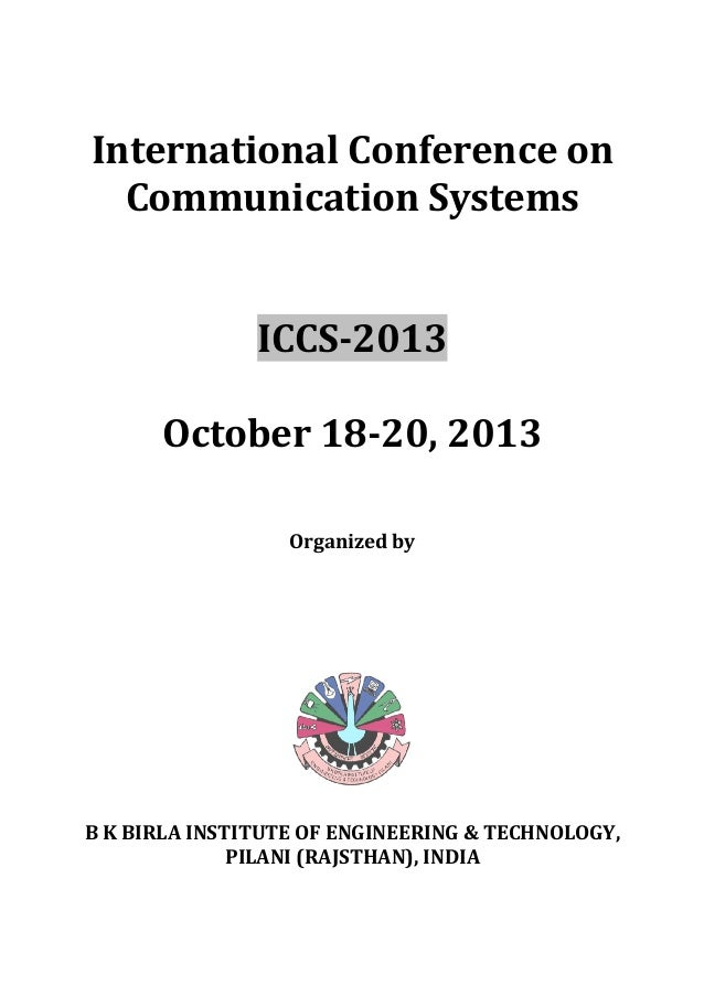 International conference on communication systems