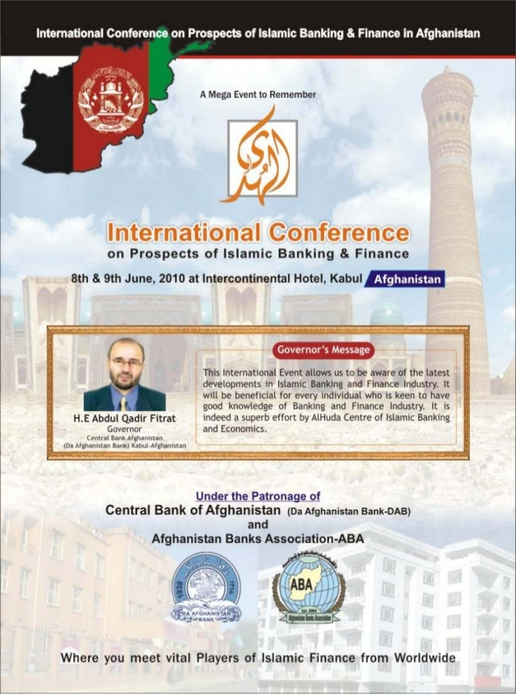 International conference on prospects of islamic banking and finance, 2010 afghanistan. intercontinental hotel