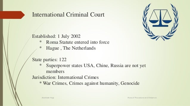essays on international criminal law