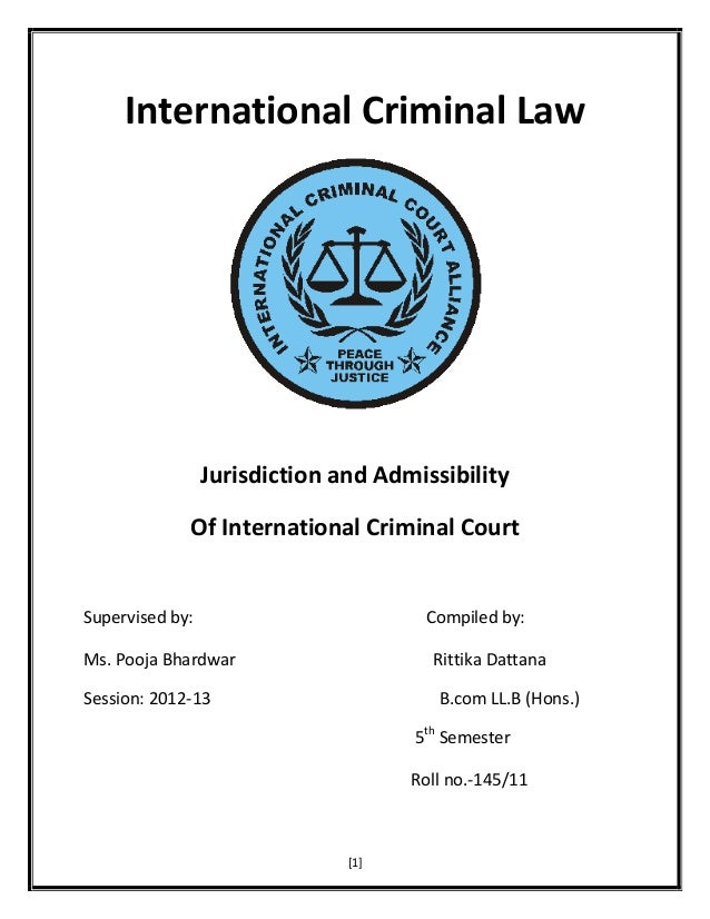 Phd thesis international criminal law